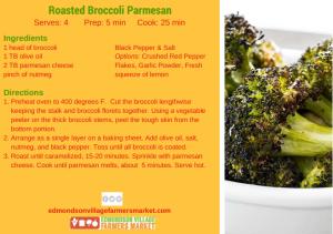Roasted Broccoli Parmesan recipe card