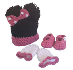 T. Crochet 4 U mouse hat and booties